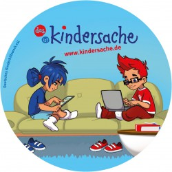 "Schul-Material: Aufkleber ""kindersache"""