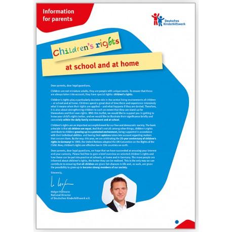 Schul-Material: Elterninfo – englisch