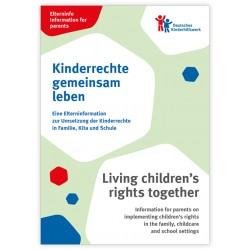 Elterninfo zur Umsetzung der Kinderrechte in Familie, Kita und Schule - deutsch/englisch