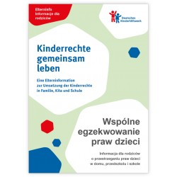 Elterninfo zur Umsetzung der Kinderrechte in Familie, Kita und Schule - deutsch/polnisch