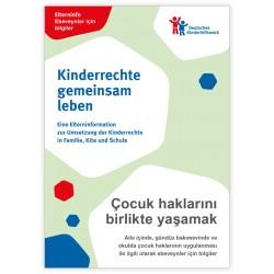 Elterninfo zur Umsetzung der Kinderrechte in Familie, Kita und Schule - deutsch/türkisch